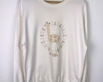 Rare!!! Vintage!!! USPP Sweatshirt Pullover Big Logo Spellout Embroidery Giraffe Jumper