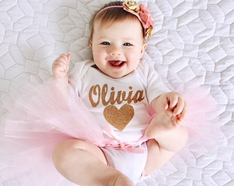 baby girl Personalized valentines day Onesie, Gold Glitter, Silver glitter, with headband, Hebrew Baby shower gift, baby girl Newborn gift