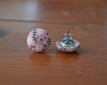 Light Pink Floral Earrings