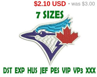 SALE 30% Toronto Blue Jays logo embroidery design - Instant Download machine embroidery pattern