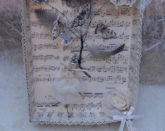 hunting for butterflies chart paper and lace
