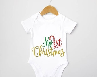 My 1st Christmas Baby Grow, Christmas Baby Grows, Newborn Baby Grow, Gifts for Babies, Gifts for Babies Christmas, 1st Christmas Baby grow