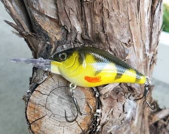 Custom YELLOW PERCH crankbait