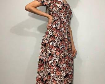 90s Floral maxi dress