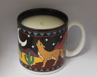 Howlin' at the Moon Coffee Mug Candle