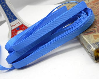 5 x meter blue 6mm grosgrain Ribbon trim