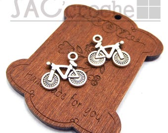 5 x charms Pendentfs silver bicycle bike