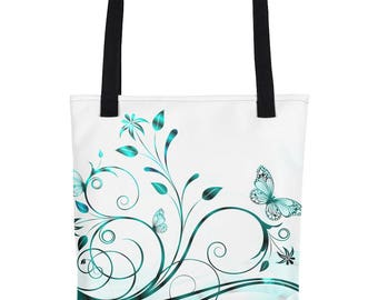 Butterfly Filigree Tote Bag