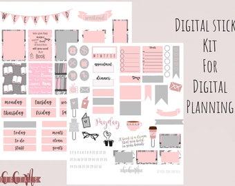 Digital Planner or Digital Journal Book Nerd Sticker Kit for Goodnotes | iPad Digital Weekly Sticker Set | Digital Journal Stickers