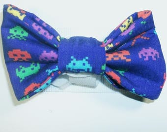 Space Invaders Patterned Bow Tie