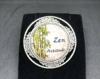 Zen Attitude brooch