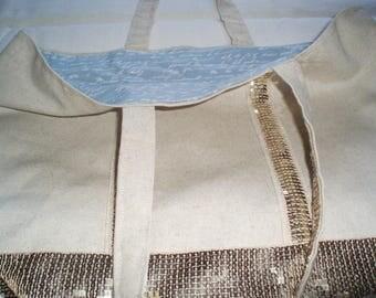 Ecru bandouilleres glitter handbag