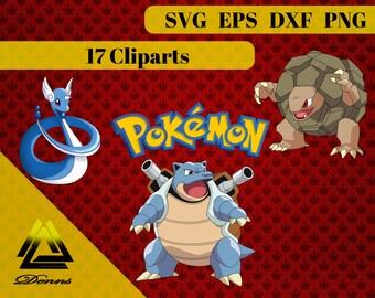 Pokemon Package 3 – 17 (Svg, Eps, Png, Jpg Files) – 300 PPI – Vectorial Images –Pokemon svg – T-Shirt Design - Mug - Gift