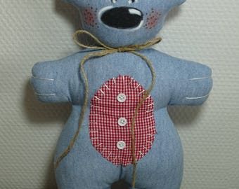 Light blue jean bear