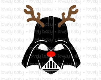 Star Wars Darth Vader Christmas SVG Baby SVG, Baby Shirt Onesie, Cuttable File, dxf, eps, jpg, png Baby Boy, Cricut, Silhouette, Instant