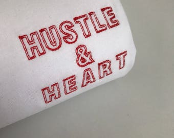 HUSTLE & HEART embroidered T-Shirt