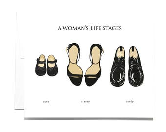 Greeting Card Stages Shoes