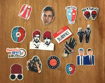 Twenty one pilot mini sticker pack
