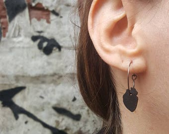 Human Heart Ear Ring