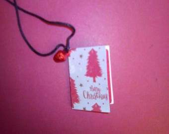 Spirit of Christmas Book necklace