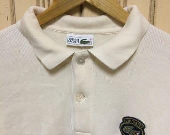 Rare Vintage 90s lacoste sweatshirt polo
