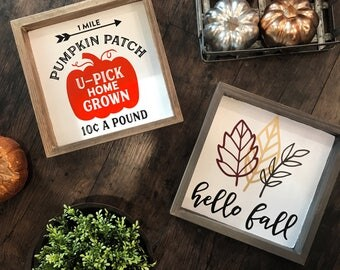Square Rustic Fall Sign