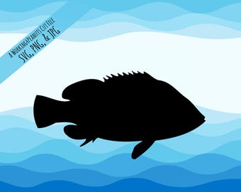 Fish Svg - Fishing Svg - Fish Svg File - Fish Silhouette - Fish Silhouette Svg - Fish Clipart - Cricut Designs - Cut Files - Ocean Svg