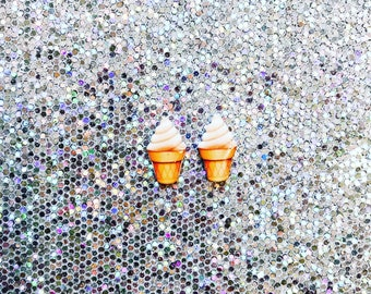 Ice Cream Cone Emoji Stud Earrings | Icecream | Emoji
