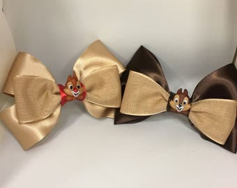 Chip and Dale Bow Hair Clips