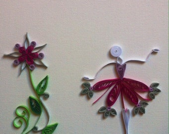 """Quilling Board """"dance for a flower"""""""