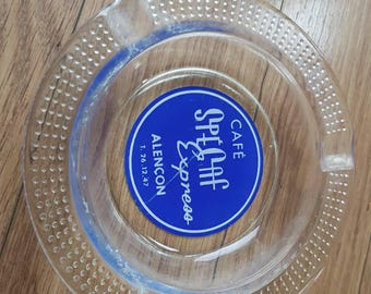 Genuine French glass cafe ashtray