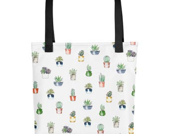 Potted Cacti Plants -Tote bag