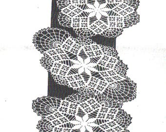 PDF Crochet Pattern, Design 7097, Three sizes of Spiderweb lacy Doily