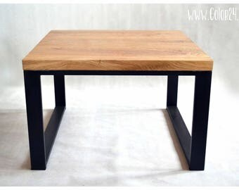 DESK OAK, modern style, natural wood, special construction, coffee table II