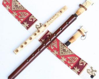 Armenian DUDUK 2 reeds professional Apricot Wood Oboe Balaban Pro Woodwind Instrument - national case, Playing Instruction - Gift flute