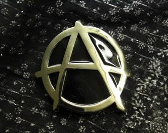 vintage belt buckle - Anarchy - Made in 1990s