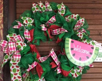 Welcome Summer Watermelon Wreath