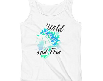 Wild And Free..., Ladies Tank Top