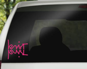 Knit Purl Decal - Knitter Decal - Knitter Pride Decal - Knit Sticker - Knit Life