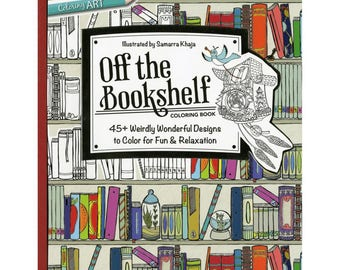 Off The Bookshelf Adult Coloring Book