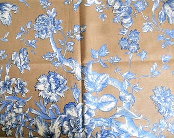 toile de Jouy fabric coupon 50 cm x 35 cm high about the size of a placemat