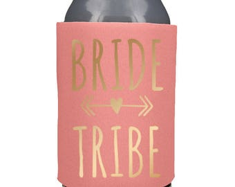 Custom Designed Can Coolers, Bride Can Coolers, Bride Squad Can Coolers, Custom Logo, Bridal Party Can Coolers, Wedding Favors