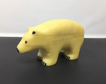 Vintage 3-D Polar Bear Puzzle, Vintage Polar Bear Puzzle, 80's puzzle game, AniPuzzle Polar Bear Puzzle, 3 Dimensional Puzzle, Polar Bear