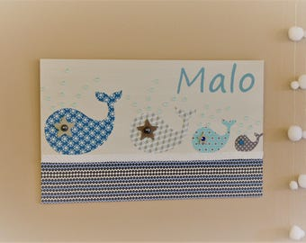 Table name for child's room, family of whales