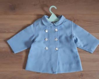 1 year 12 months jacket coat vintage retro 1960's blue girl or boy