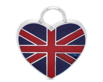 PBE29 - Enamel pendant charm British flag Union Jack 20mm