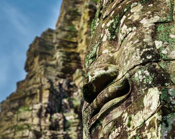 The Bayon, Angkor Thom Gallery Block Art Wall Print