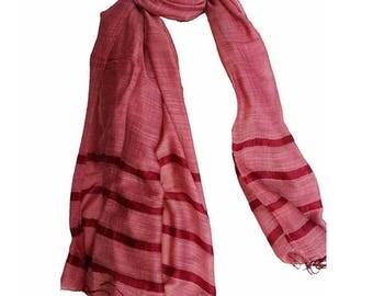 soft and satiny fine silk scarf plum