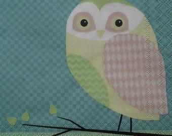 paper towel 014 OWL 25x25cm