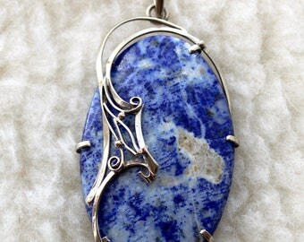 pendant made of lapis lazuli
